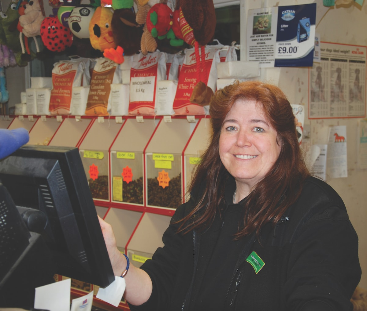 Angela works in retail at the Kirkby-in-Ashfield Branch